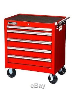New High Quality 27-Inch 5 Drawer Red Toolbox with Ball Bearing Drawer Slides