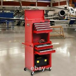 New IronMax Rolling Sturdy Steel Tool Chest 6 Drawers and Cabinet 3 in 1