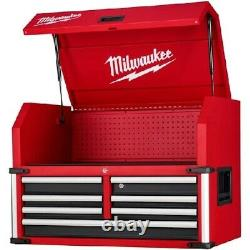 New, Milwaukee 12 drawer 36 inch High Capacity Tool Chest Red, Top and Bottom