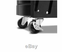New Welder Cart Welding Trolley Black Ball Bearing Drawer Slides Twin Holders