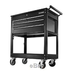OLYMPIA Roller Cabinet Tool Chest 4 Drawer 30'' Lockable Garage Workbench Black