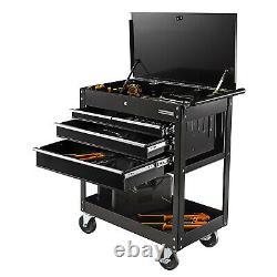 Olympia Tools 84-956 4-Drawer Tool Storage Organizer Roller Push Cart, Black