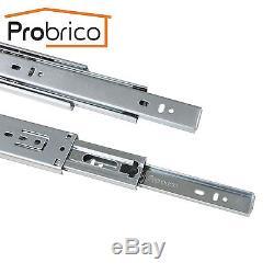 Probrico Side/Rear Mount Soft Close Steel Ball Bearing Drawer Slides Heavy Duty