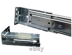 Rear/ Side Mount Drawer Slides Full Extension 45mm Ball Bearing Heavy Duty
