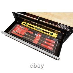 Rolling Mechanics Tool Cart Me 3 Drawer Storage Hardwood Top Table Organizer 36