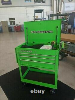 Rolling Storage Tool Cart Tech Cabinet Service Mobile Cart 4 Drawer Green