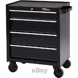 Rolling Tool Cabinet Ball Bearing Slides 4 Drawer Wheeled Mechanic Chest Storage