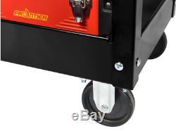 Rolling Tool Cart Garage Storage Utility 37 in. 1 Drawer Heavy Duty Steel Black