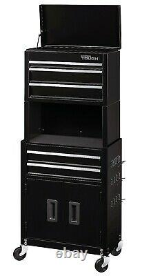 Rolling Tool Chest Cabinet Combo with Riser 20-In 5-Drawer Toolbox Garage Tools