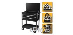 Rolling Tool Chest Cabinet Organizer Mechanics Box Cart Bench 4 Drawer Black New