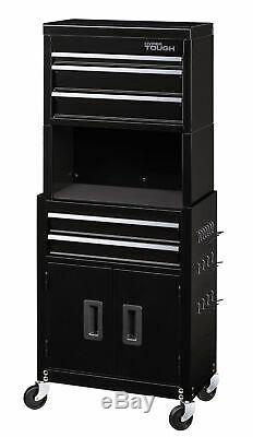 Rolling Tool Chest Drawer Workshop Storage Cabinet Garage Mechanic Organizer 20