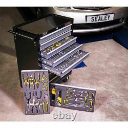 SWS20 Rollcab 8 Drawer Ball Bearing Slides Black/Grey with 136pc Tool Kit