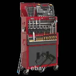 SWS20 Toolbox Rollcab 6 Drawer with Ball Bearing Slides Red Grey 128pce TOOLKIT