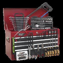 SWS20 Toolbox Topchest 6 Drawer with Ball Bearing Slides RED GREY 98pce TOOLKIT