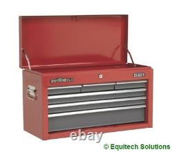 Sealey AP2201BB Topchest Tool Box Ball Bearing Runners Slides 6 Drawers Red Grey