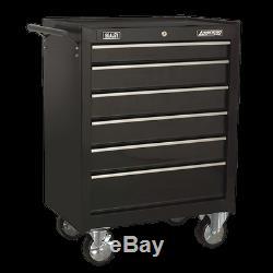 Sealey AP226B Rollcab 6 Drawer with Ball Bearing Slides Black