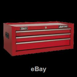 Sealey Mid-Box 3 Drawer with Ball Bearing Slides Red AP223