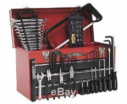 Sealey Portable Tool Chest 3 Drawer with Ball Bearing Slides Red 93pc Tool Kit
