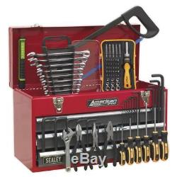 Sealey Portable Tool Chest 3 Drawer with Ball Bearing Slides Red & 93pc Tool Kit