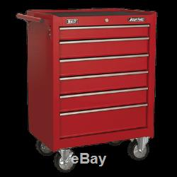 Sealey Rollcab 6 Drawer with Ball Bearing Slides Red AP226