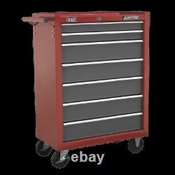 Sealey Rollcab 7 Drawer with Ball-Bearing Slides Red/Grey AP22507BB