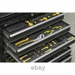 Sealey Rollcab 8 Drawer with Ball Bearing Slides Black/Grey AP3508TB