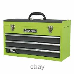 Sealey Tool Chest 3 Drawer Portable Hi-Vis Green AP9243BBHV