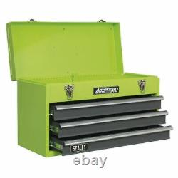 Sealey Tool Chest 3 Drawer Portable with Ball Bearing Runners Hi-Vis Green