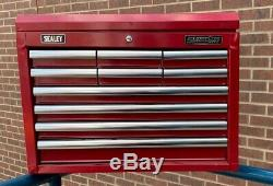Sealey Topchest 10 Drawer with Ball Bearing Slides Red AP33109 (C)