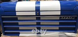 Sealey Topchest 4 Drawer Wide Retro Style Blue with White Stripes AP41104BWS (C)