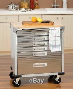 Seville Classics UltraHD 6-Drawer Rolling Cabinet
