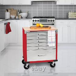 Seville Classics UltraHD 6-Drawer Rolling Cabinet upgraded