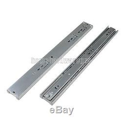 Side Mount Ball Bearing Drawer Slide Soft Close 100lb Heavy Duty Full Extension