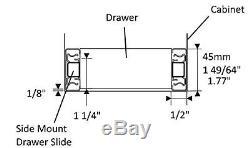 Soft-Close Ball Bearing Drawer Slides Full Extension 12-24 100lb weight limit