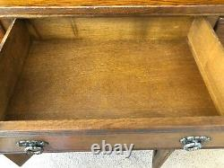 Solid Oak Sideboard & Display Cabinet Wood Brothers Oak Charm Dining Collection