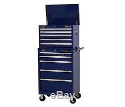 Stanley 27 in. 5-Drawer Wide Tool Cabinet Blue Ball Bearing Slide Storage Metal