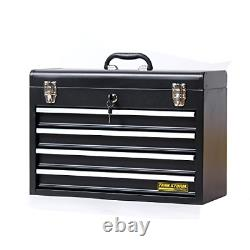 TANKSTORM Portable Steel Tool Chest with Drawers, 20.6 4-Drawer Box Storage with