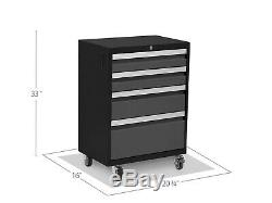 TOOL STORAGE Organizer Cabinet Steel Rolling 4 Drawers