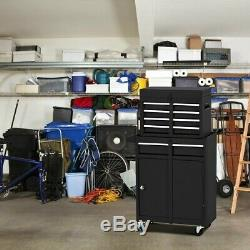 Tool Box With Wheels Cart On Metal Roll Around Rolling Chest Men Storage Drawers