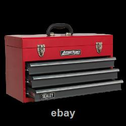 Tool Chest 3 Drawer Red Grey TOOLBOX TOOL KIT Ball Bearing Slides SWS21