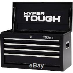 Tool Chest Ball Bearing Slides 4 Drawer 26 in. Durable Steel Tools Storage New