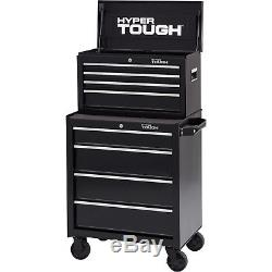 Tool Chest Cabinet with 4 Drawer Storage Steel Ball Bearing Slides Rolling Caster