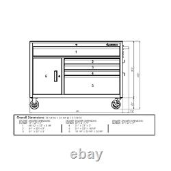 Tool Chest Work Bench Cabinet 52 Rolling Garage Storage Organizer Hardwood Top