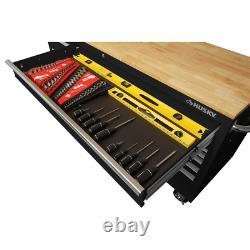 Tool Chest Work Bench Cabinet Wood Top 72 in. 18-Drawer Rolling Garage Organizer