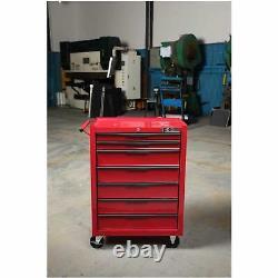 Tool Trolley Storage Heavy Duty 7 Drawers Mobile Wheels Steel Garage Workshop