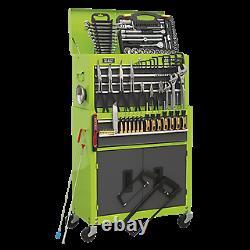 Toolbox Rollcab 6 Drawer Ball Bearing Slides HI VIS GREEN 128pce TOOLKIT