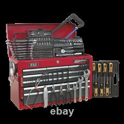 Toolbox Topchest 9 Drawer with Ball Bearing Slides RED GREY 205pce TOOLKIT