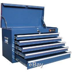 Top Tool Chest 26-inch Five Ball Bearing Slide Drawers Workshop Garage Box