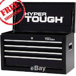Tough Top 4-Drawers Toolbox Chest Ball-Bearing Slides 26W Mechanic Pulls Knobs