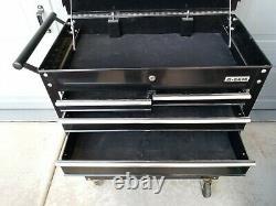 U. S. General 4-Drawer Tool Storage Organizer Roller Push Cart, Black (Used)